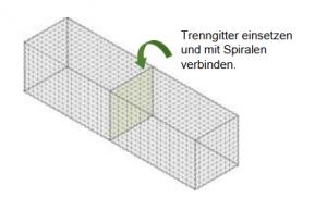 Gabionen Trenngitter