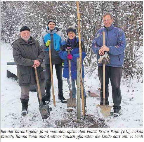 Waldkirchen, Linde pflanzen.JPG