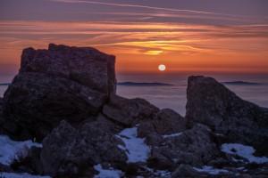 24.01.2020 Sonnenuntergang Arber, 24.01.2020 Sonnenuntergang am Arber - © Peter Neunteufel / Woidlife Photography