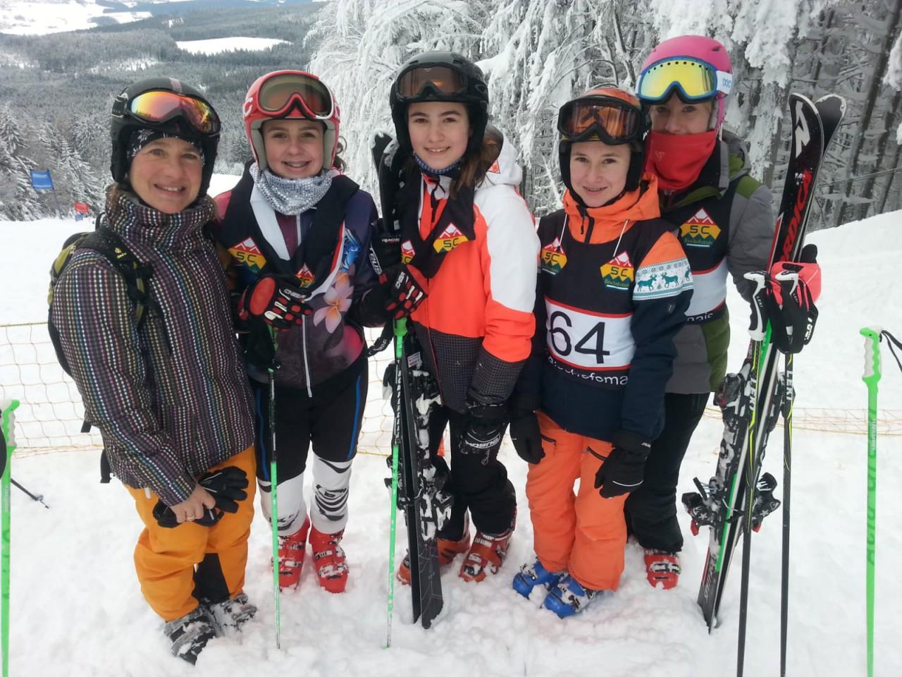 Erfolgreiche Skifahrerinnen