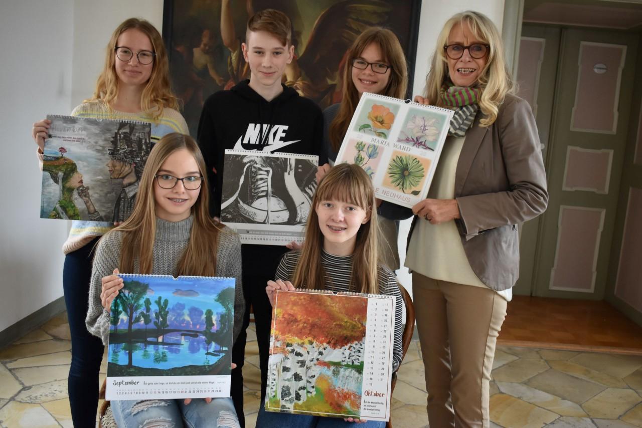 Realschüler gestalten besonderen Kunstkalender