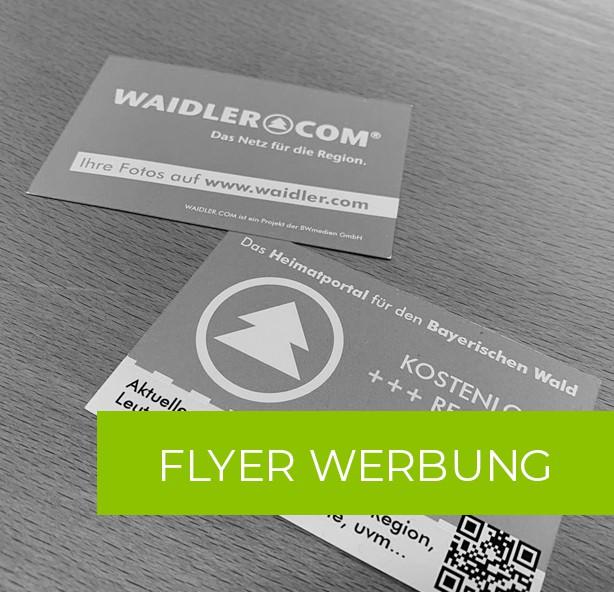 Werbung auf WAIDLER.COM - Flyer